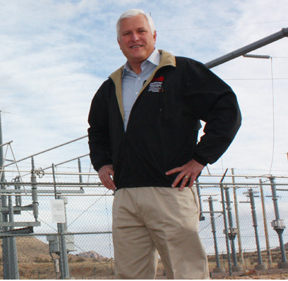 Jim Burson, Director of Transmission Operations. Oversees electric power transmission